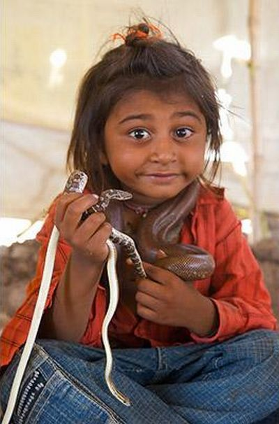 Young Snake Charmers